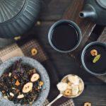 Tea, black leaves